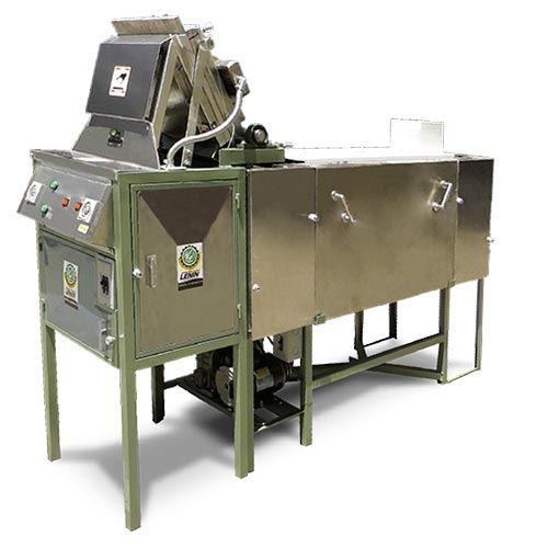 Burrito press with cooking oven