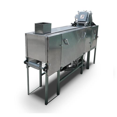 Single press with cooking oven