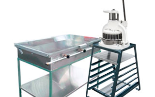 griddle and dough cutter